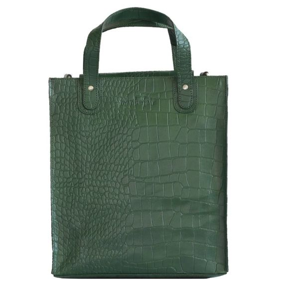 258a281c62380 Shopper Linn aus Eco-Leder in grün