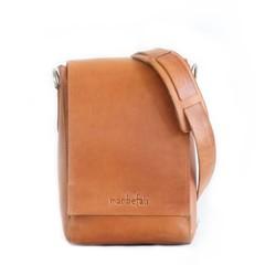 STEFANO MESSENGER BAG camel leather