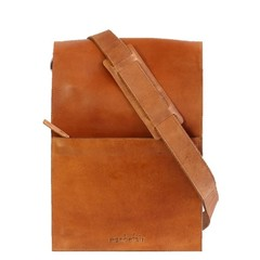 manbefair RUPERT MESSENGER BAG leather camel