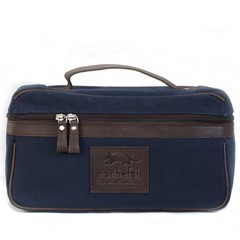 manbefair BOLOGNA TOILETRY BAG blue canvas (B-Goods)