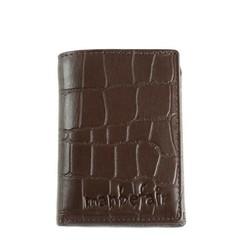 WALLET OSLO leather brown croco