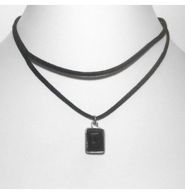 Choker Black Rectangle Gold - 2012