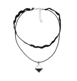 Choker Black Rhombus Silver - 2013