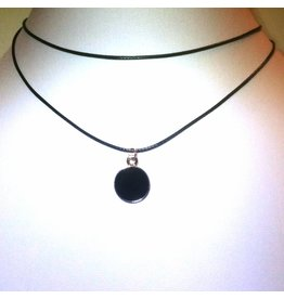 Choker Black Round Drop - 2011