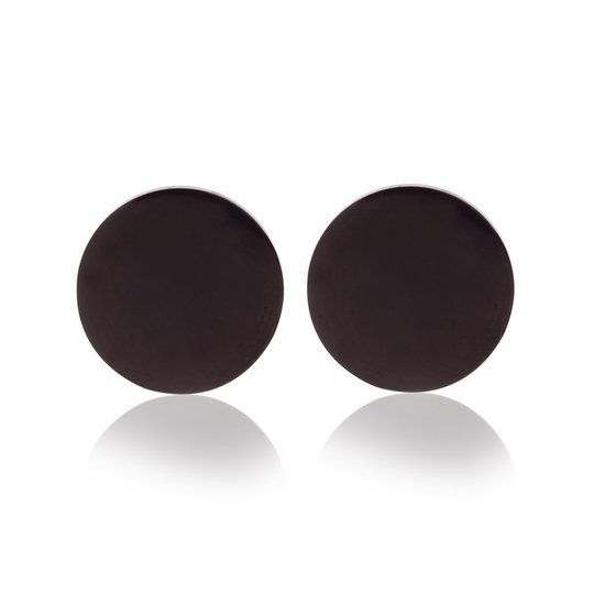 Oorknopjes Stainless Steel Black Studs