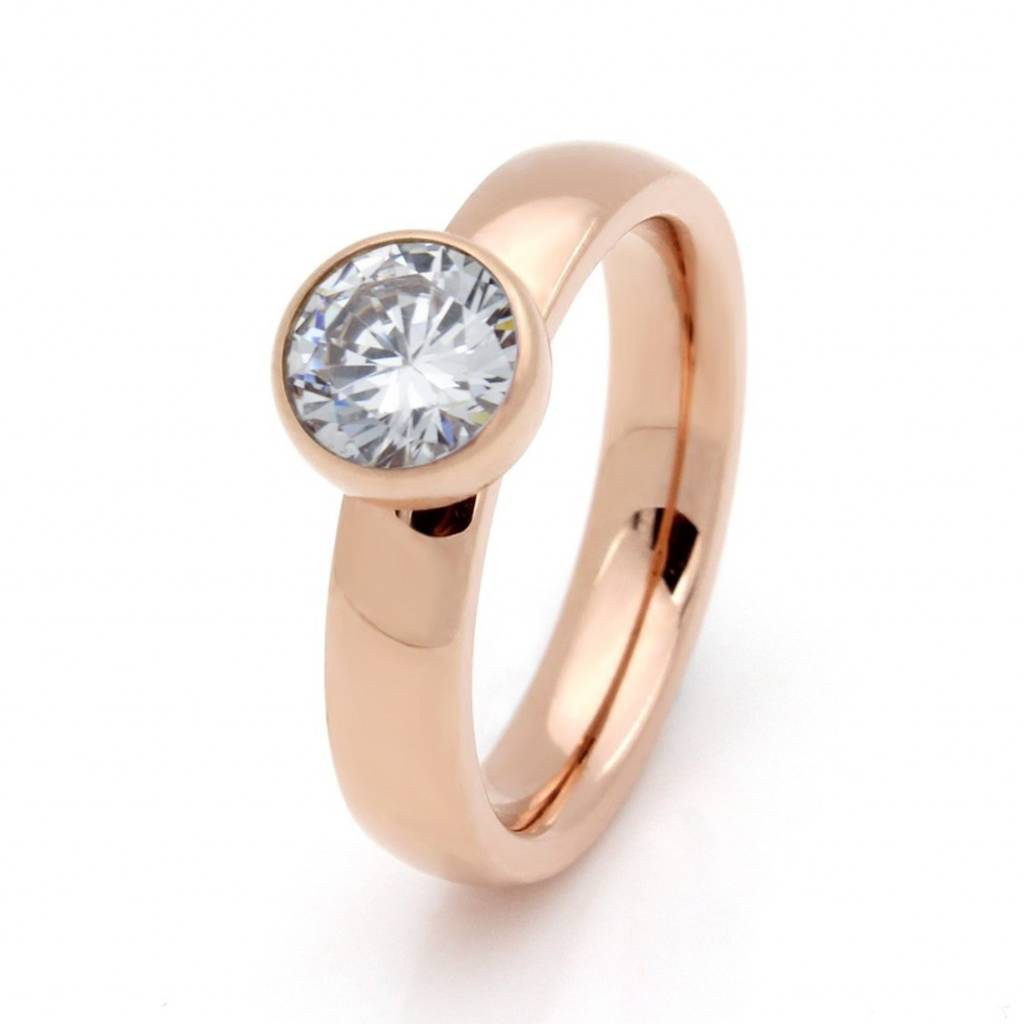 Ring Stainless Steel Rose Plated