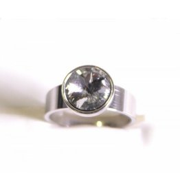 Ring Stainless Steel Glass Crystal