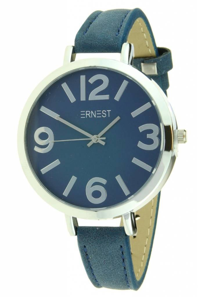 Ernest Horloge Arizona Dark Blue Silver Case