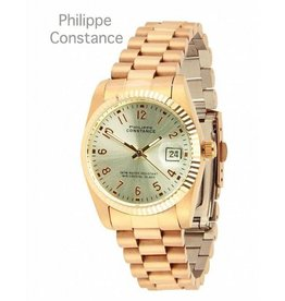 Philippe Constance Horloge Large Rose Serrated Plain Silver
