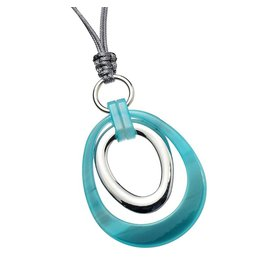 Ketting Double Circles Blue