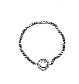 Armband Shiny Smiley Zilver