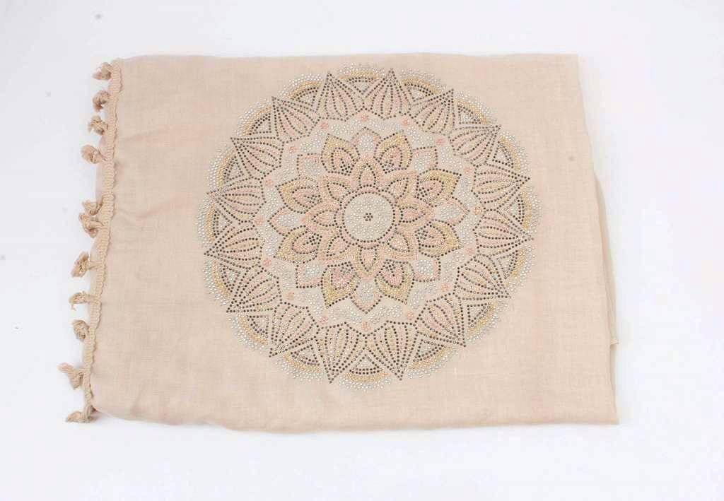 Sjaal Urban Boho Mandala Beige