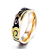 Ring Fantasie Black (smal) Stainless Steel