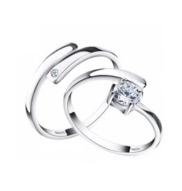 Ring Set 925 Sterling Zilver CZ