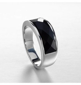 Ring 925 Sterling Zilver Black Agaat