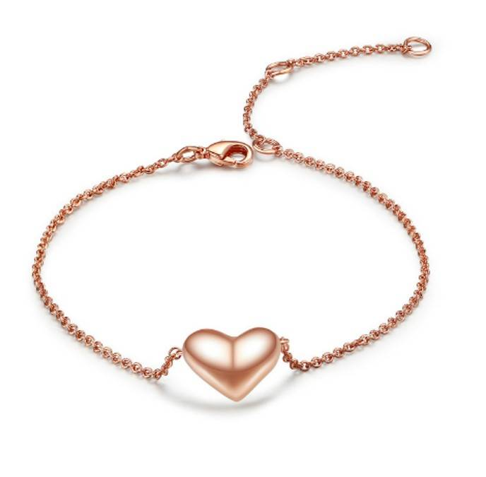 Armband Stainless Steel Gold Plated met Hartje