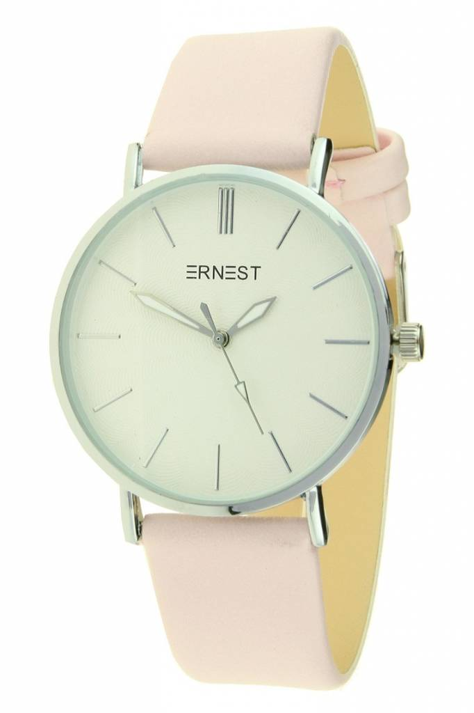 Ernest Horloge Madelena Zilver - Soft Pink