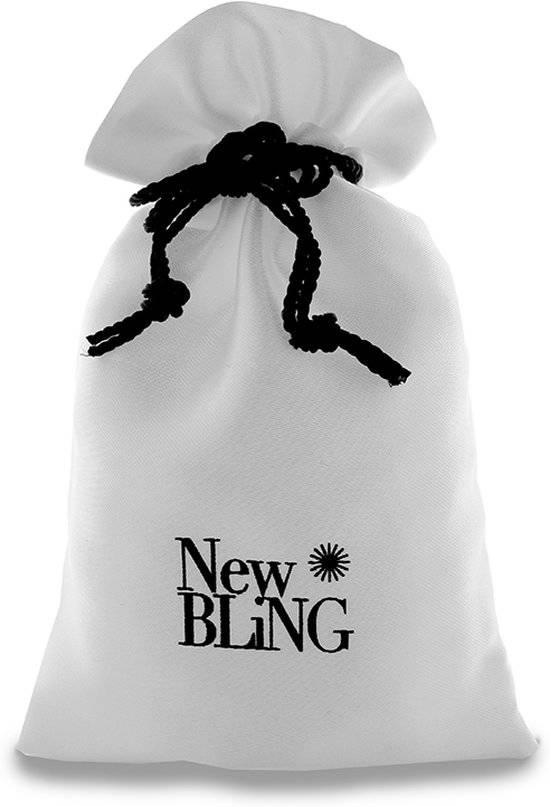 New Bling Armband wit agaat facet geslepen met zilveren Hanger