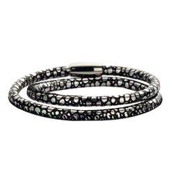 New Bling Armband Slangenleer Parelmoer