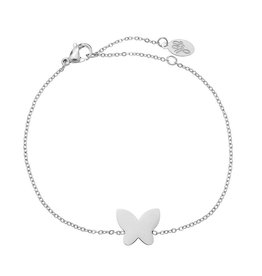 Armband Stainless Steel Butterfly Zilver
