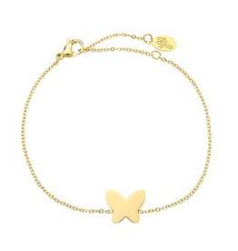 Armband Stainess Steel Butterfly Gold