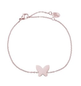 Armband Stainess Steel Butterfly Rose