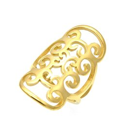 Ring Flower Stainless Steel 316L - Gold