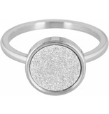 Charmin's Ring Edelstaal Sanded Circle - Steel