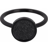 Charmin's Ring Edelstaal Sanded Circle - Black