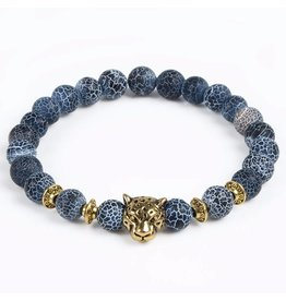 Sazou Jewels Armband Natural Stones Panter Gold