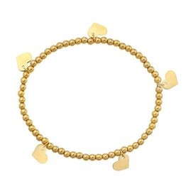 Armband Lots Of Love Stainless Steel Gold Plated