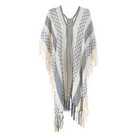 Bohemian Beach Poncho Grey