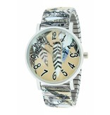 Ernest Horloge Feathers Taupe 7161