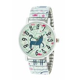 Ernest Horloge Cat & Mouse White 7166