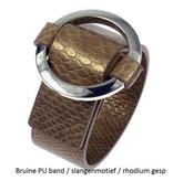 PU Gesp Armband Bruin