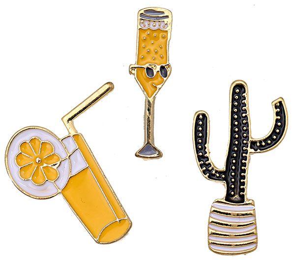 Fashion Pins / Set van 3 / PINS010