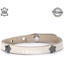 Armband Leer Love is Everywhere - Sand