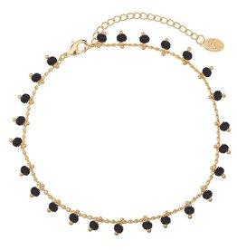 Enkelbandje Tiny Beads Zwart