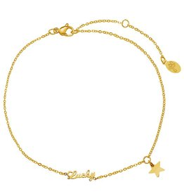 Enkelbandje Lucky Star Gold