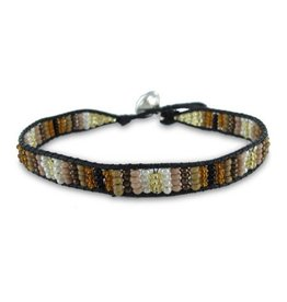 Colori Armbandje Black Cord - Brown