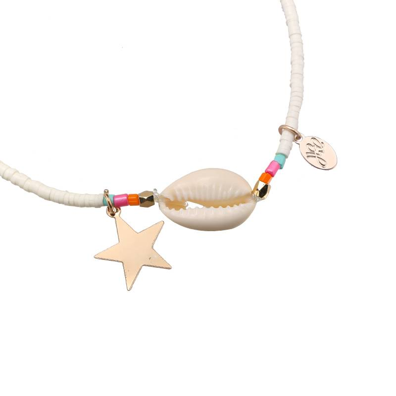 Enkelband Beach & Beads Taupe