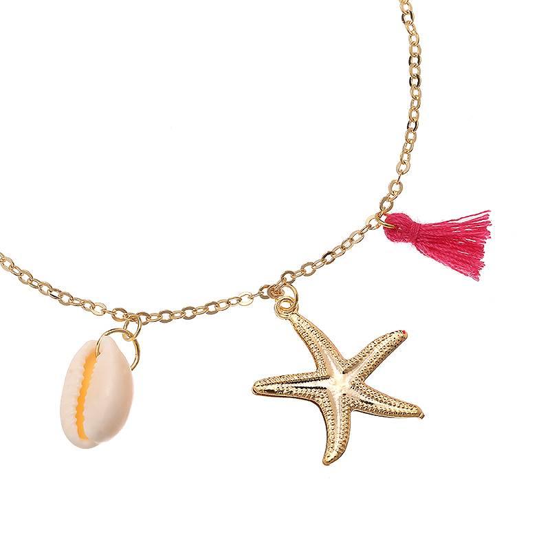 Enkelbandje Beach Essentials - Gold Plated - Pink