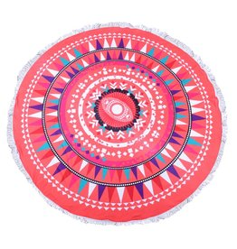 Round Beach Towel Happy Colors