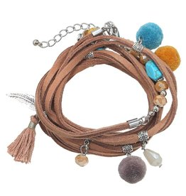 Armband Ibiza / Boho Wrap Light Brown