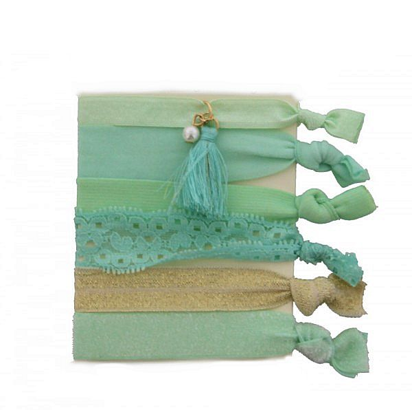 Hairtie - Armband Glitters Turquoise Gold / H027