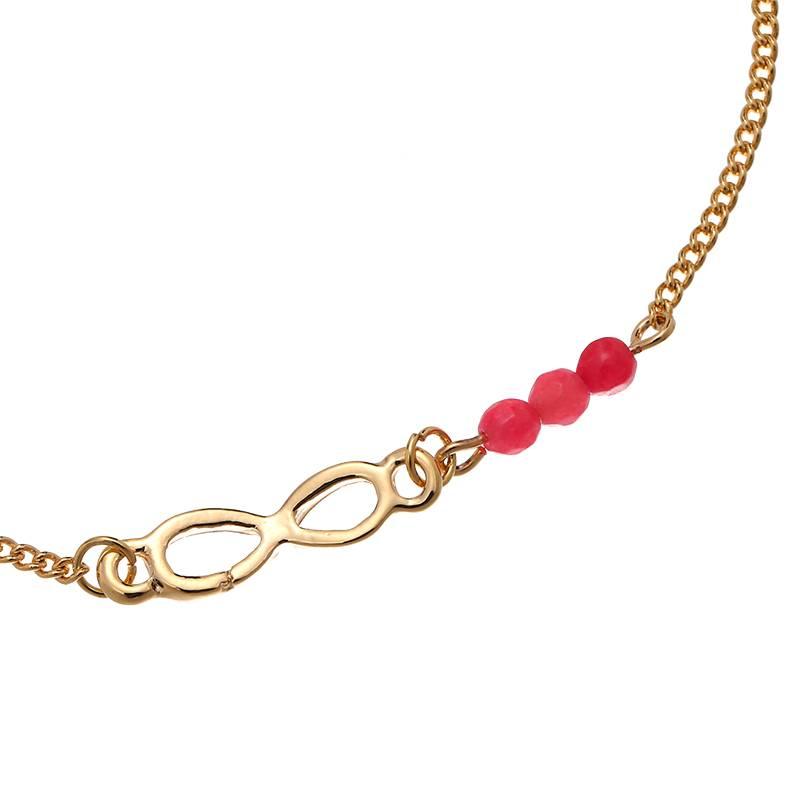 Enkelbandje Infinity Gold - Pink