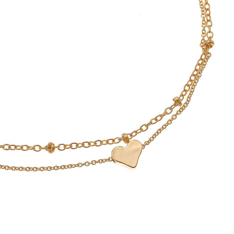 Enkelbandje Tiny Beads en Sweetheart - Gold