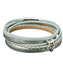Plus Size Wikkel Armband Pastel Groen