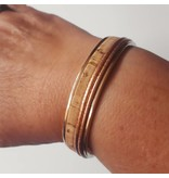 B & L Armband Stainless Steel & Leather