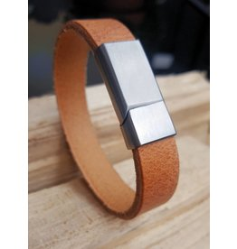 B & L Lederen Armband Cognac MT21 - BL 998